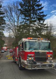 On Monday, April 11th - PVVFD was dispatched to a structure fire on Pine Street in Putnam Valley