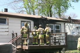 Sunday, April 24th, Putnam Valley Fire Department structure fire on Lake Street. Photo's courtesy of Lois Rizzi