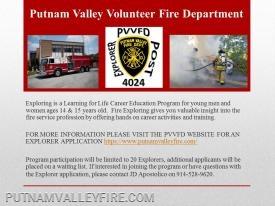 PVVFD Explorer Post presentation to PV High School - 10/17/2018